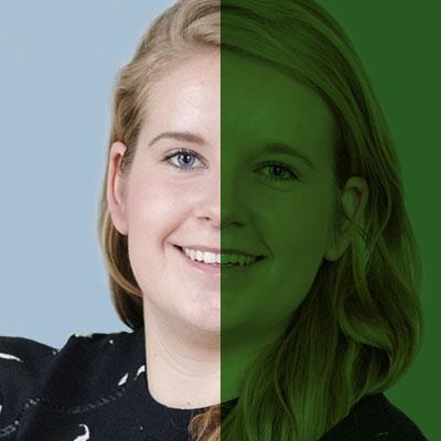 SiTesta's Inge de Bruin portret groen
